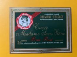 9260 - Crémant D'Alsace Brut Rosé Cuvée Madame Sans Gêne - Etiquettes