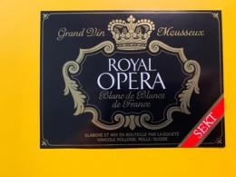 9288 - Vin Mousseux Royal Opera - Etiquettes