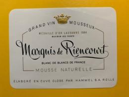 9292 - Grand Vin Mousseux Marquis De Riencourt Médaille D'or Lausanne 1964 - Etiquettes