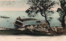 Carte Postale Ancienne - Non Circulé - Dép. 64 - BIARRITZ - Rocher De La VIERGE Vue De L' ATALAYE - Biarritz