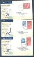 NZ AUSTRALIA - 1959-1960 - FIRST FLIGHT -  TEALECTRA AUSTRALIA NEW ZEALAND FIJI - 10 ENVELOPPES - Lot 18761 - First Flight Covers