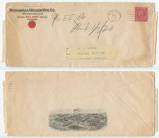 United States 1919 Advert Cover & Invoices Mishawaka Indiana, Mishawaka Woolen Mfg. Co - Brieven En Documenten