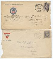United States 1918 2 Covers Houston TX & Hempstead NY W/ 3c. Washington Stamps - Brieven En Documenten