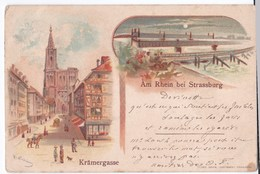 Strasbourg Cpa Coloriée Krämergasse Anno 1898 - Strasbourg