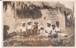 CARTE-PHOTO CONGO BELGE : GELUKKIG NIEUW JAAR - Belgisch-Congo - Varia