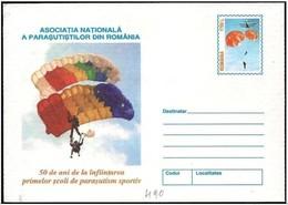 Romania/Roumanie: Intero, Stationery, Entier, Paracadute, Parachute, - Paracadutismo