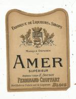 étiquette , Alcool , AMER SUPERIEUR , CHUFFART , BLOIS - Etiquettes
