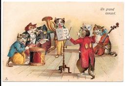 Un Grand Concert. - Orchestre De Chats En Habits. - Animaux Habillés