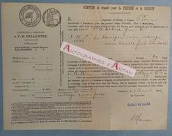 Bateau à Vapeur 1886 Bordeaux > Stettin - Prusse & Russie - Barrique Vin Rouge - Escale Le Havre Connaissement Maritime - Transports