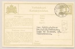 Nederlands Indië - 1929 - 1 Cent Cijfer, Verhuiskaart G4a Lokaal Gebruikt Weltevreden - Nederlands-Indië