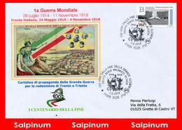 ANNULLO ANNIVERSARIO 100° FINE  PRIMA GUERRA MONDIALE - TEZZE - 6. 1946-.. Repubblica