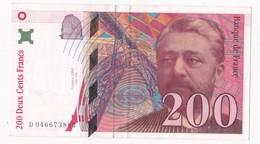 200 Francs Eiffel 1996 Série D 046673885 - 1992-2000 Dernière Gamme