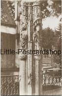 Foto AK Rethel Teilansicht Einer Alten Künstlerischen Säule Auf Dem Friedhof Feldpostkarte Ca. 1915 - Guerre 1914-18