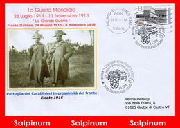 ANNULLO MOSTRA I CARABINIERI NELLA GRANDE GUERRA - 6. 1946-.. Repubblica