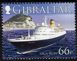 Gibraltar - 2006 - Cruise Ships - Saga Rubi - Lighthouse - Mint Stamp - Gibilterra