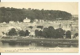 55 - SAINT MIHIEL / LA MEUSE - LE QUAI DES ACACIAS - LE CHATEAU DES ANNONCIADES - Saint Mihiel