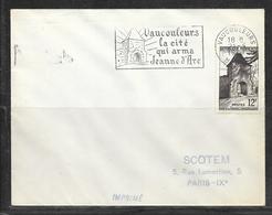 LOT 1812117 - N° 921 SUR LETTRE DE VAUCOULEURS DU 21/05/57 POUR PARIS - FLAMME - 1921-1960: Modern Period