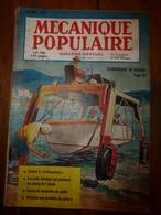 1953 MÉCANIQUE POPULAIRE: Maison Anti-atomique;Dressage Chien De Chasse;Faire Une Fausse-vraie Pierre Précieuse;etc - Sciences & Technique