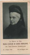 Santino Della Serva Di Dio Maria Clotilde Di Savoia Napoleone (Torino 1843 - Moncalieri 1911). Anno 1940 - Santini