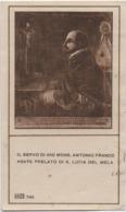 Santino Del Servo Di Dio Mons. Antonio Franco (Napoli 1585 - Santa Lucia Del Mela, Messina 1626) - Images Religieuses