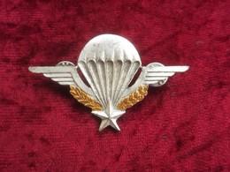 Brevetto Metallico Da Giacca Paracadutisti Francesi Legione Straniera Originale - Esercito