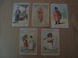 LOT DE 5 IMAGES RECOMPENSE SCOLAIRE LA GEOGRAPHIE PAR LES COSTUMES - Picture Cards