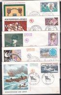 Ar3772 5 FDC Année 1974/ 5 Env. Illustrées - FDC