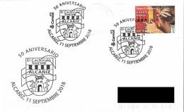 SPAIN. POSTMARK 50th ANNIV. CACHIRULO. ALCAÑIZ 2018 - Marcofilia - EMA ( Maquina De Huellas A Franquear)