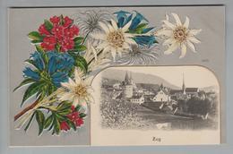 AK CH ZG Zug Foto Auf Edelweiss-Prägelitho #5422 Ungebraucht H.Guggenheim #14130 - ZG Zoug