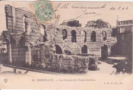 CPA -   67. BORDEAUX - Les Ruines Du Palais Gallien - Bordeaux