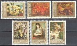 Bulgaria 1974 - Paintings - Mi.2300-05 - Used Gestempelt - Bulgarien
