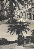 Marche-ascoli Piceno-grottammare (2 Cartoline) Via Cairoli (in Alto) Viale Della Repubblica (in Basso) Anni 40/50 - Altre Città