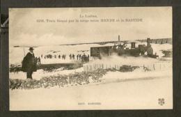 CP-Train Bloqué Par La Neige Entre MENDE A La BASTIDE - France