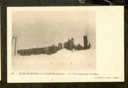 CP-LIGNE De MENDE A La BASTIDE - Un Train Bloqué Par La Neige - Other Municipalities