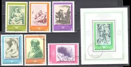 Bulgaria 1975 - Paintings - Mi.2411-16 + Ms 58 - Used Gestempelt - Gebraucht