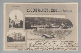 AK CH ZG Zug 62.Centralfest 1904-08-22-24 Fotos - ZG Zoug