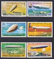 MAURITANIE N°  350 à 353, AERIENS 170 & 171 ** MNH Neufs Sans Charnière, TB (D7945) 70 Ans Du 1er Zeppelin - 1976 - Mauritanie (1960-...)