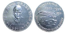 03380 GETTONE TOKEN JETON FICHA COMMEMORATIVE PIONIERI DEL VOLO AVIOATION PIONEER  FLAGPIONIER HANS GRADE ALU - Allemagne
