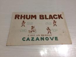Buvard Ancien RHUM BLACK CAZANOVE - Liqueur & Bière