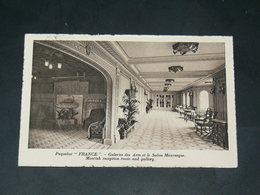 """SAINT NAZAIRE  1930  / CIE TRANSATLANTIQUE VUE INTERIEURE PAQUEBOT """" FRANCE """"  EDITEUR - Saint Nazaire"""