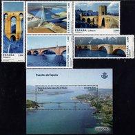 Spain - 2013 - Bridges Of Spain - Mint Stamp Set + Souvenir Sheet - 1931-Aujourd'hui: II. République - ....Juan Carlos I