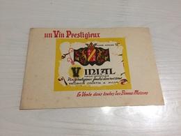 Buvard Ancien VIN PRESTIGIEUX VINIAL COURTIN AVION PAS DE CALAIS - Liqueur & Bière