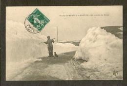 CP-Route De MENDE à La BASTIDE - Un Comble De Neige - France