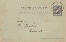 CARD. MAROC. 1 9 1893. TANGER TO AMIENS FRANCE     /  2 - Briefmarken
