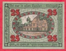 Allemagne 1 Notgeld De 25 Pfenning Stadt Eutin UNC  N °2355 - [ 3] 1918-1933 : République De Weimar