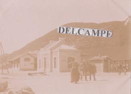 JURA   MOIRANS  1890/1900 - Photo Originale De La Perspective De La Gare - Lieux
