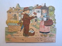 Chromo Chromos Publicité Phosphatine Falières Paris Rue De La Tacherie Dauphiné - Découpis