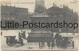 Foto AK Potsdam Alter Markt Mit Eroberten Belgischen Geschützen Feldpost 1915 - War 1914-18