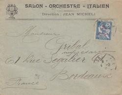 COVER. MAROC. 4 2 1914. SALON, ORCHESTRE, ITALIEN DIRECTION JEAN MICHEL CASABLANCA TO BORDEAUX FRANCE     /  2 - Sin Clasificación