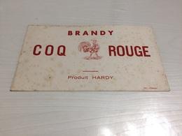 Buvard Ancien COGNAC COQ ROUGE BRANDY PAS DE CALAIS - Liqueur & Bière